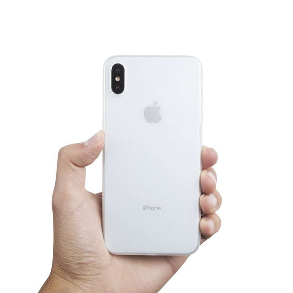 Supertunt iPhone XS Max skal 6,5  - Frosted transparent