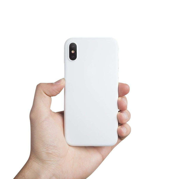 Supertunt iPhone X skal - Solid white