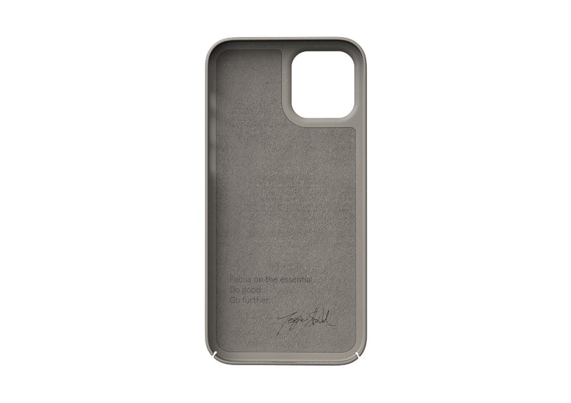 Nudient - Tunt iPhone 12 Skal V3 - Clay Beige