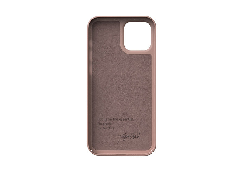 Nudient - Tunt iPhone 12 Skal V3 - Dusty Pink