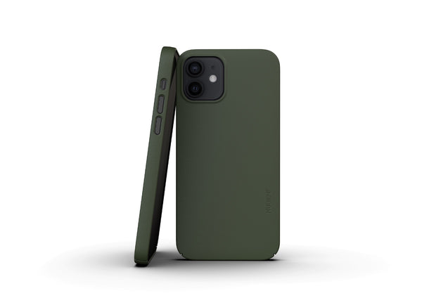 Nudient - Tunt iPhone 12 Skal V3 - Pine Green