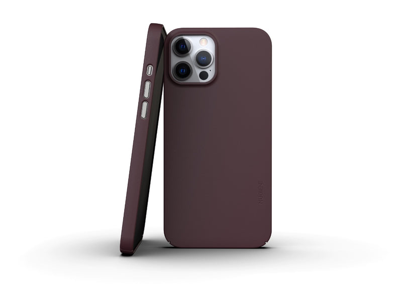 Nudient - Tunt iPhone 12 Pro Max Skal V3 - Sangria Red