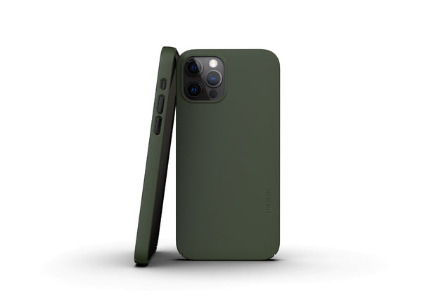 Nudient - Tunt iPhone 12 Pro Skal V3 - Pine Green