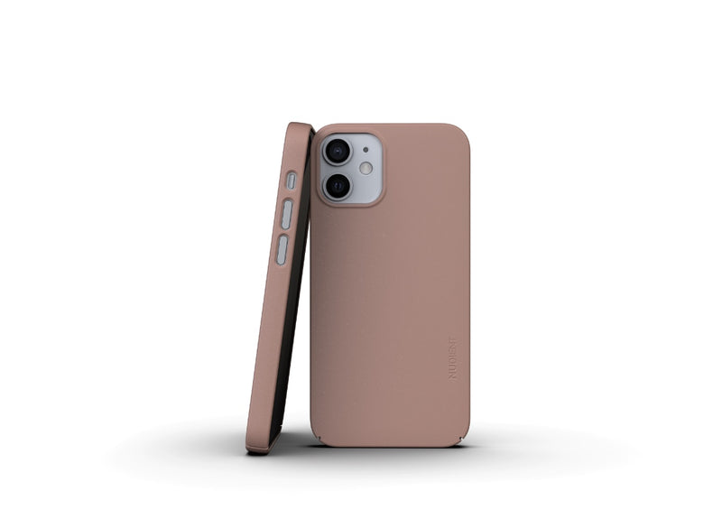 Nudient - Tunt iPhone 12 Mini Skal V3 - Dusty Pink