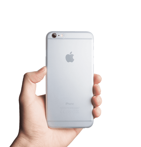 Supertunt iPhone 6s Plus skal - Frosted transparent