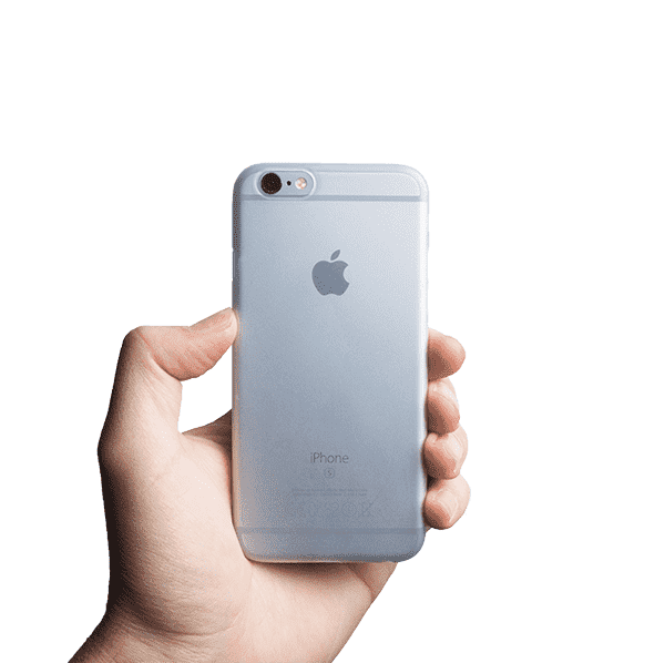 Supertunt iPhone 6s skal - Frosted transparent