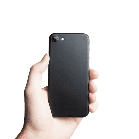 Supertunt iPhone 7 skal - Solid black