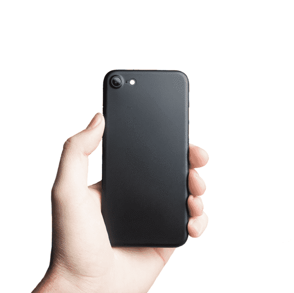 Supertunt iPhone 7 V1 skal - Solid black