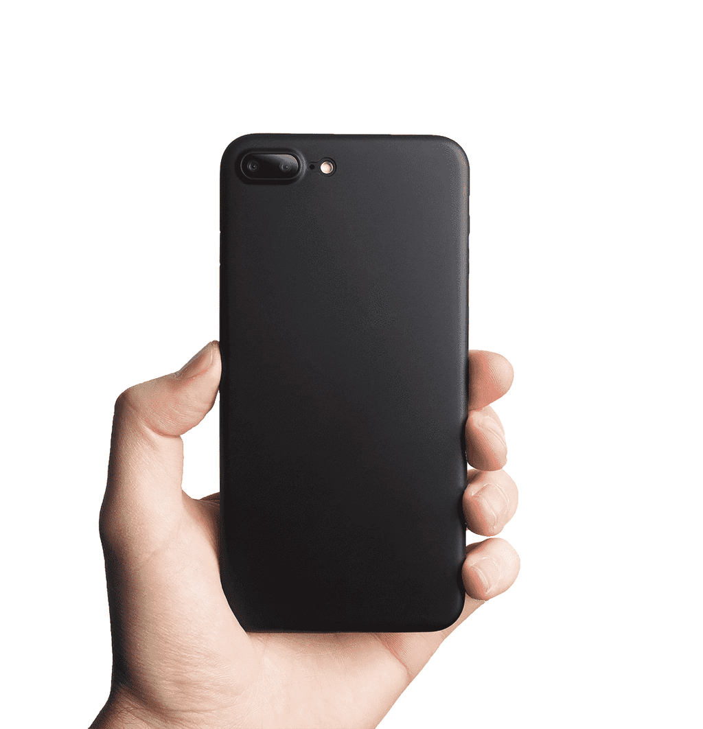 Supertunt iPhone 7 plus skal - Solid black