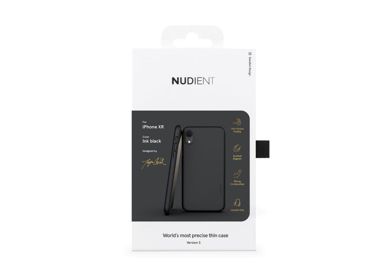 Nudient - Tunt iPhone XR Skal V3 - Ink Black