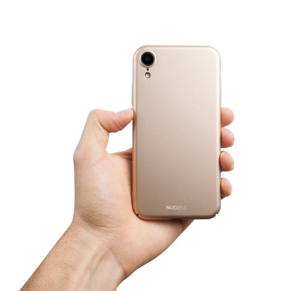 Tunt iPhone XR Designskal V2  - Jewelry Gold