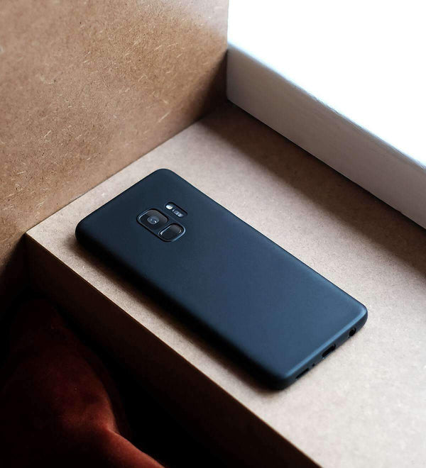 Supertunt Samsung S9 V1 skal - Solid black
