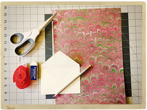 Envelope Liners, Step 1