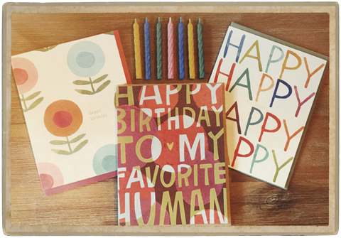 Happy Birthday Cards and Candles