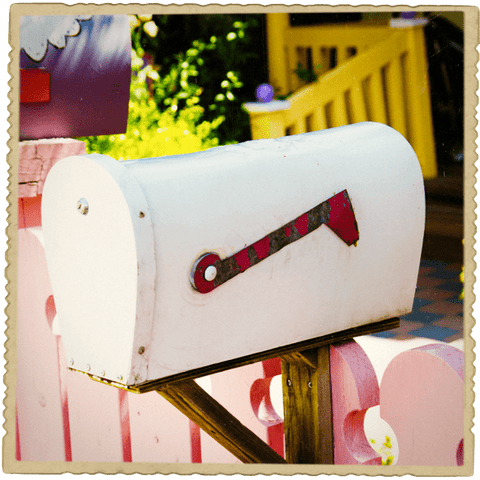 Mailbox with Pink Fence