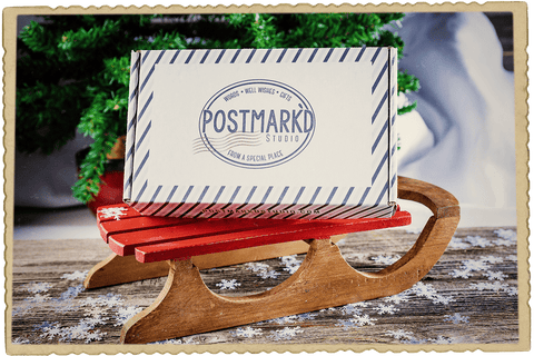 Postmark'd Studio December 2017 PostBox Winter Wonder Box Sled