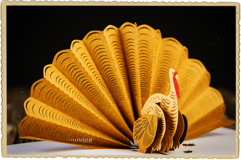 Postmark'd Studio Thanksgiving Special Delivery Box Turkey Fan Card