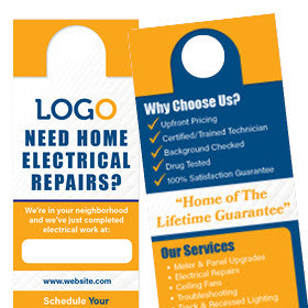 Door Hangers for Electricians
