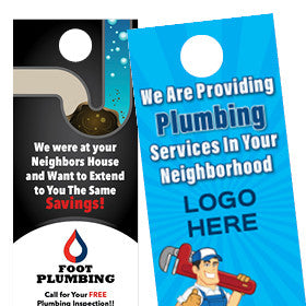 Plumber Print Plumbing Postcards Door Hangers For