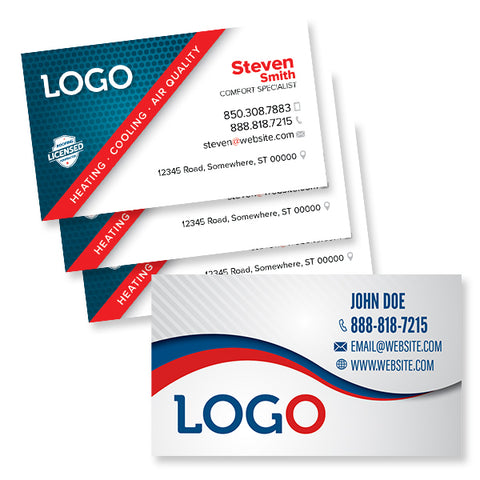 Hvac print designs designed for you free shipping footbridge business cards for hvac cheaphphosting Choice Image