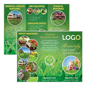 Landscaping brochure for lawn maintenance