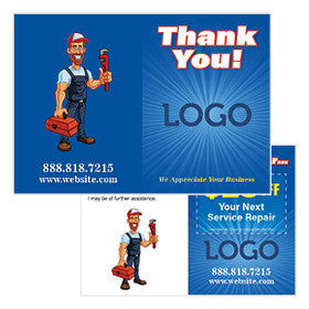 Thank You Cards for Plumbers