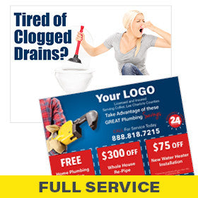 Postcards for Plumbers Full-Service