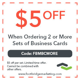 $5 off business cards