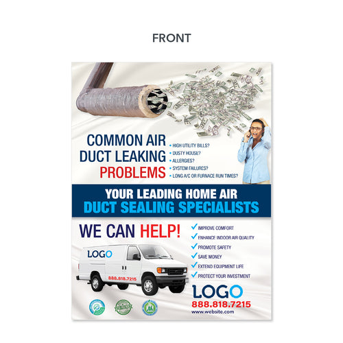 air duct sealing hvac flyer