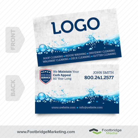 pressure washing business card design