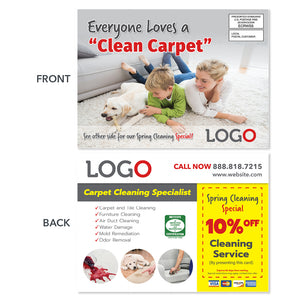 carpet cleaning eddm postcard