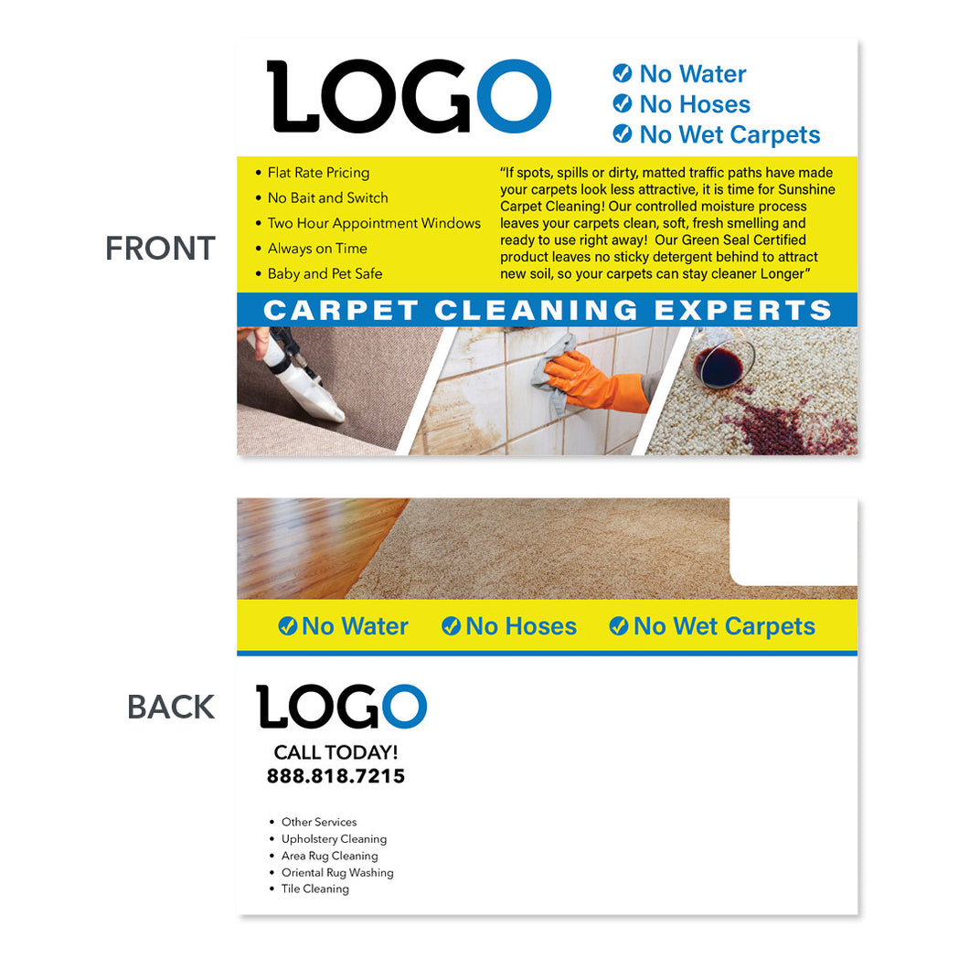 carpet cleaning service direct mail postcard