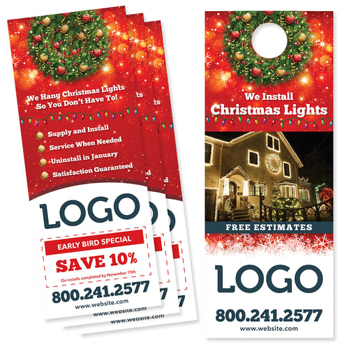 christmas light install door hanger