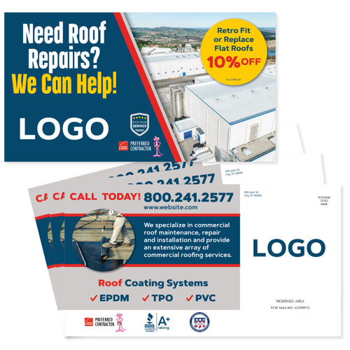 commercial roofing postcard design