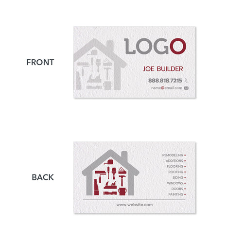 contractor business card design