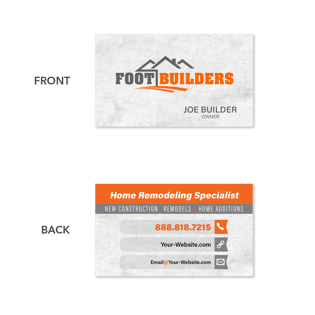 remodeling contractor business card