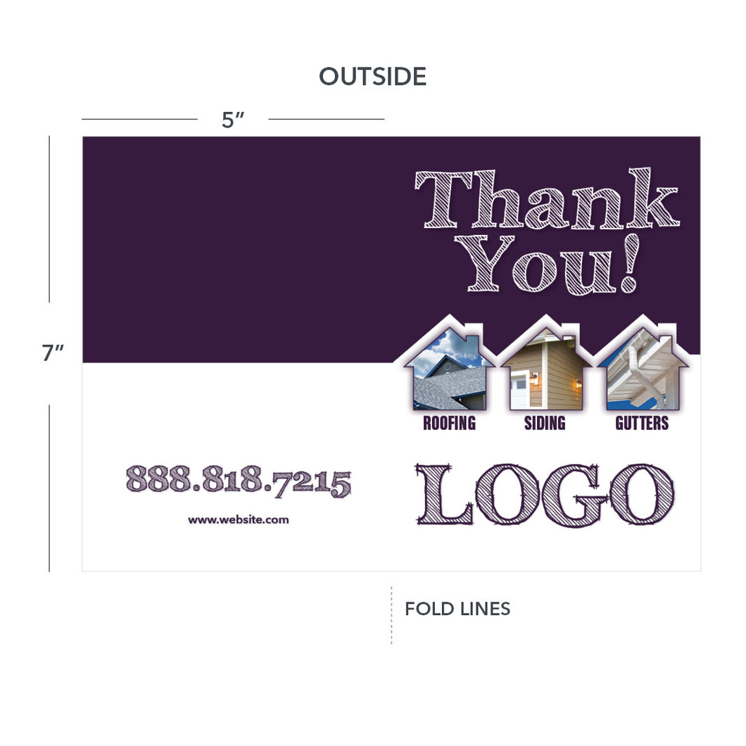 contractor thank you card roof siding gutters