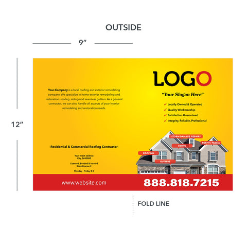 presentation folder for roofing contractor