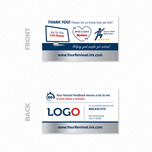 review business card for contractors