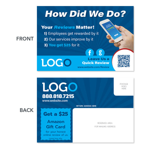 contractor review postcard