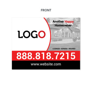 remodeling contractor yard sign