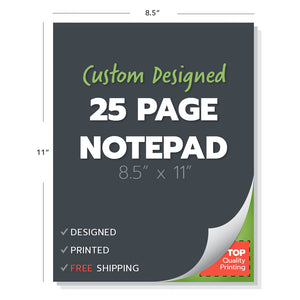 notepad 25 page custom design