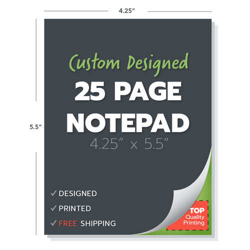 custom note pad printing design