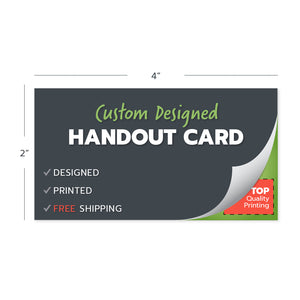 custom design handout cards