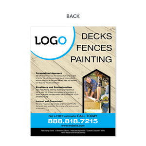 deck and painting contractor flyer