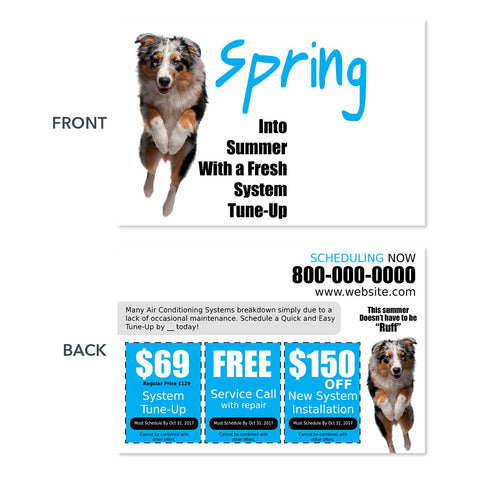 air conditioning spring hvac postcard