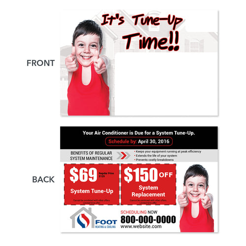 air conditioning postcard for hvac company