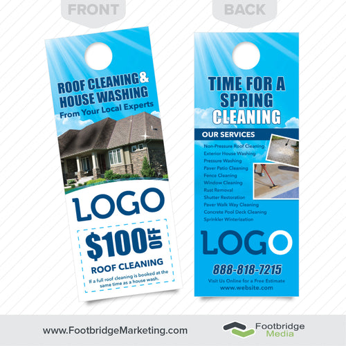 roof cleaning and house washing door hanger