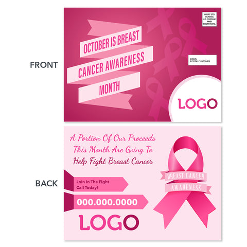 breast cancer awareness eddm postcard