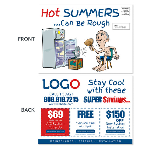 hvac postcard hot fan fridge
